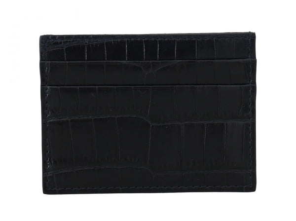 Black Crocodile Skin Mens Cardholder Case Cover