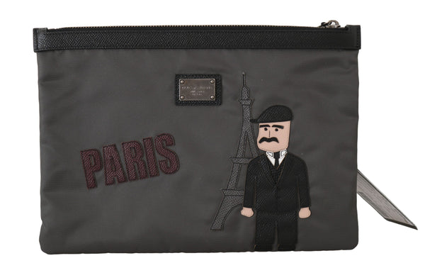 Black PARIS #dgfamily Canvas Bag