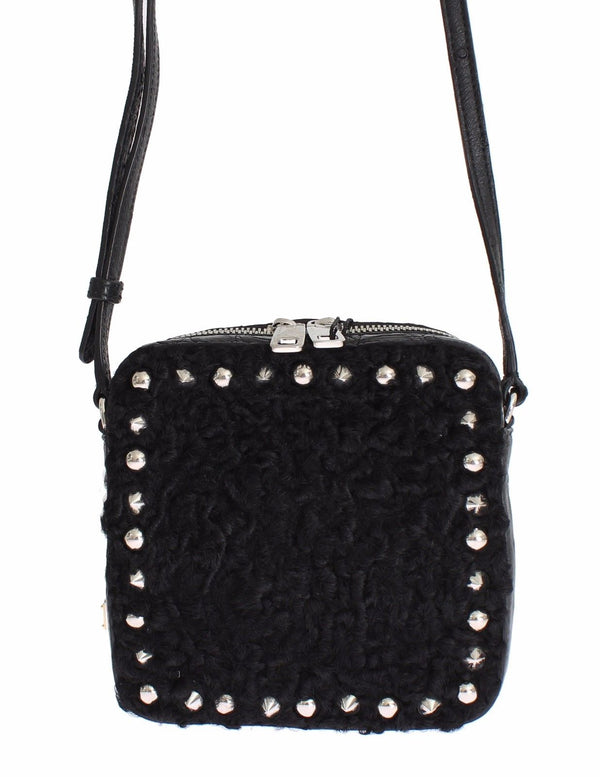 Bag Black Caiman Python Ostrich Ashkatran Purse Handbag