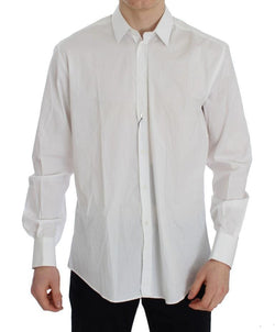 White Cotton Stretch Slim Fit MARTINI Shirt