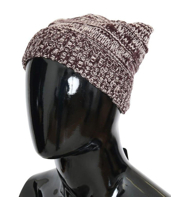 Bordeaux Wool Winter Beanie