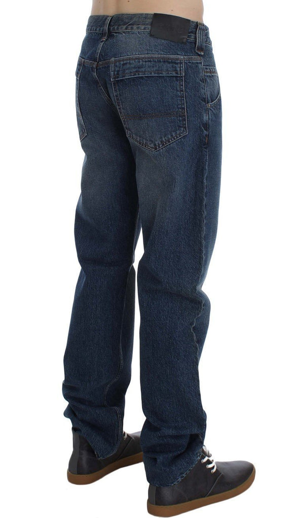 Blue Wash Cotton Regular Fit Jeans