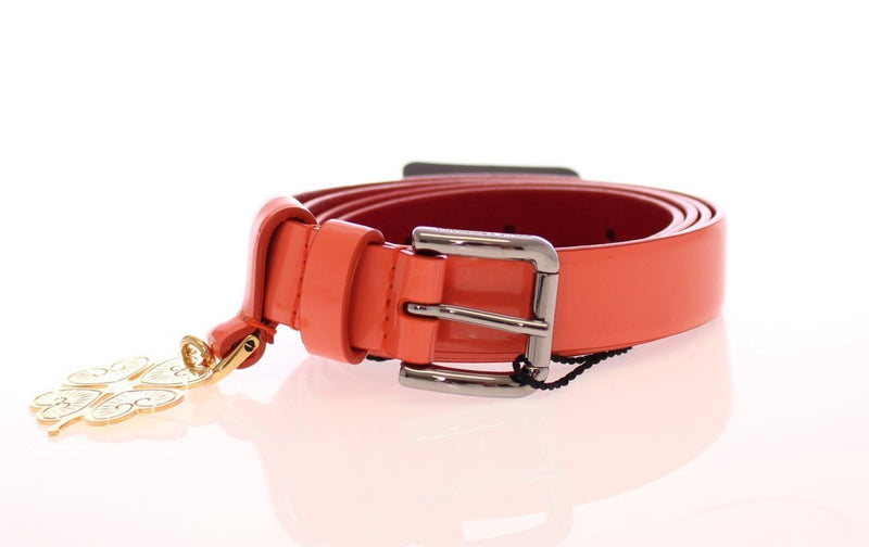 Pink Patent Leather Charm Belt