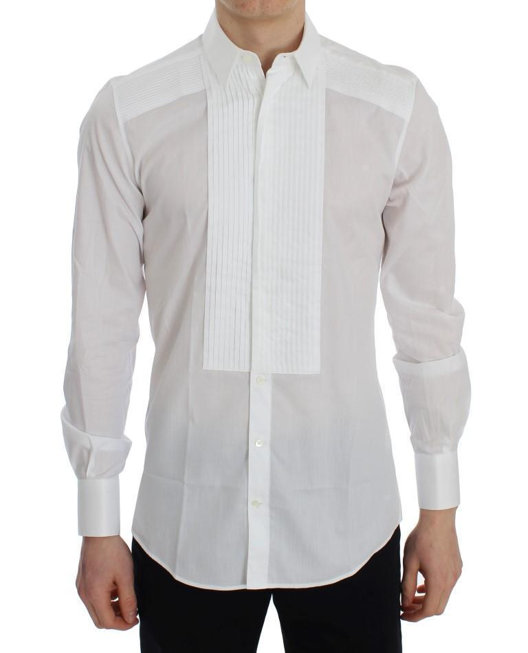 White Cotton Slim Fit Formal Shirt