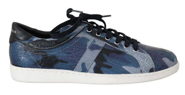 Blue Caiman Crocodile Sneakers