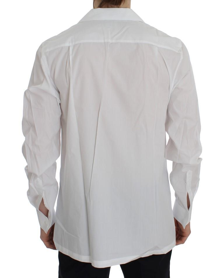 White Cotton Spread Formal Shirt