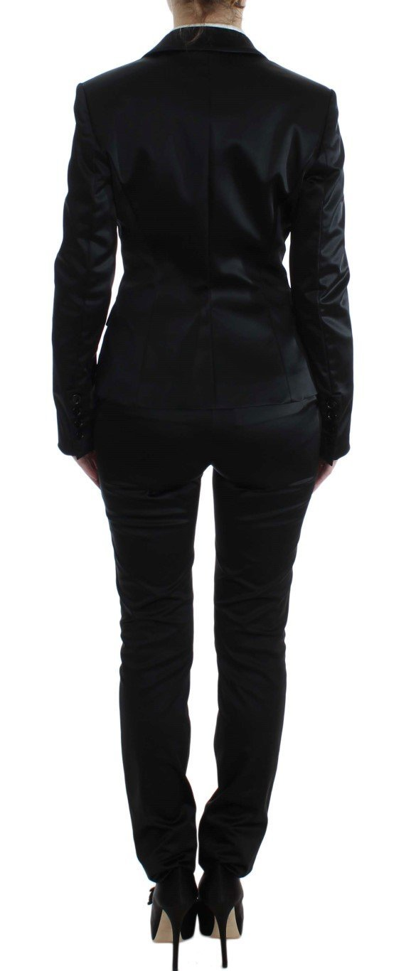 Black Stretch Two Button Suit