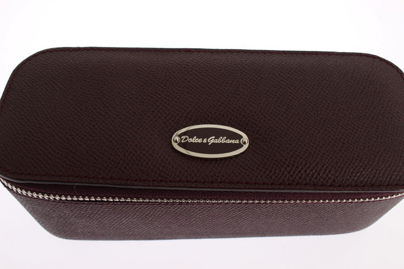 Bordeaux Leather Jewelry Sunglasses Case Box Organizer