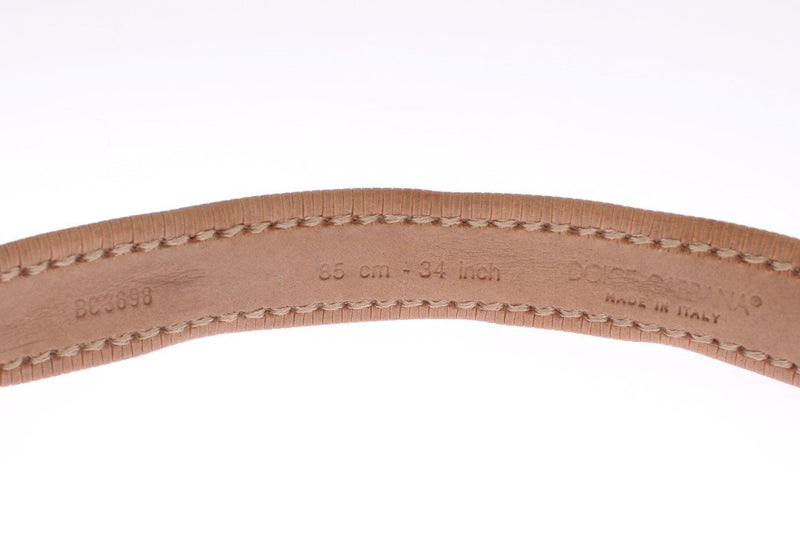 Brown Leather Gold Belt