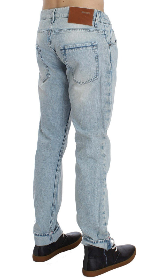 Blue Wash Cotton Low Waist Fit Jeans