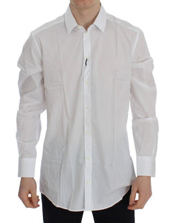 White Striped Slim Fit Cotton Shirt