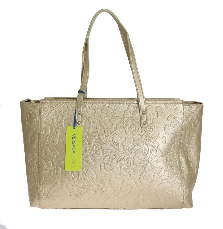 Gold Satchel Handbag for Women Shopping Borse Tote Bag