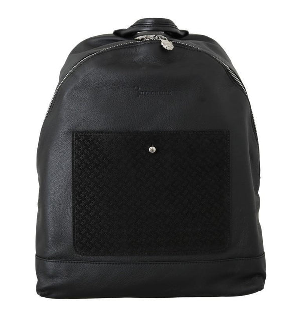 Black Leather Backpack Bag