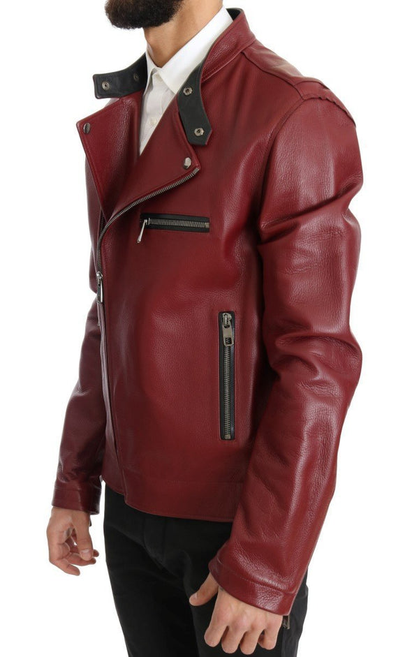 Red Leather Deerskin Jacket