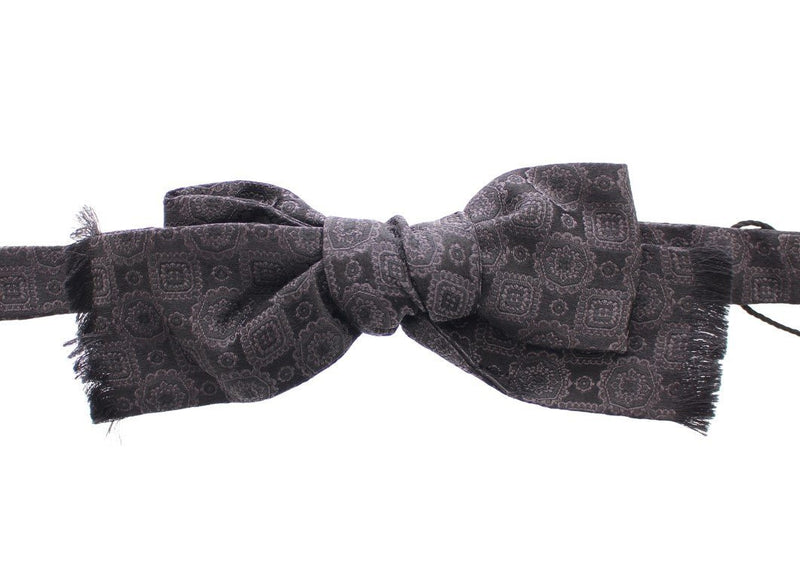 Black Silk Baroque Fantasi Untied Bow Tie