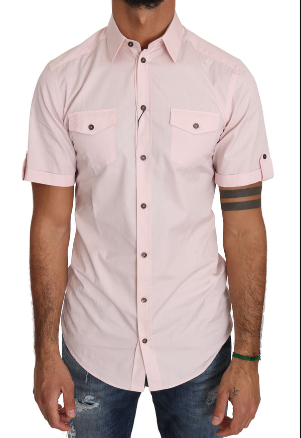 Pink Cotton GOLD Casual Shirt