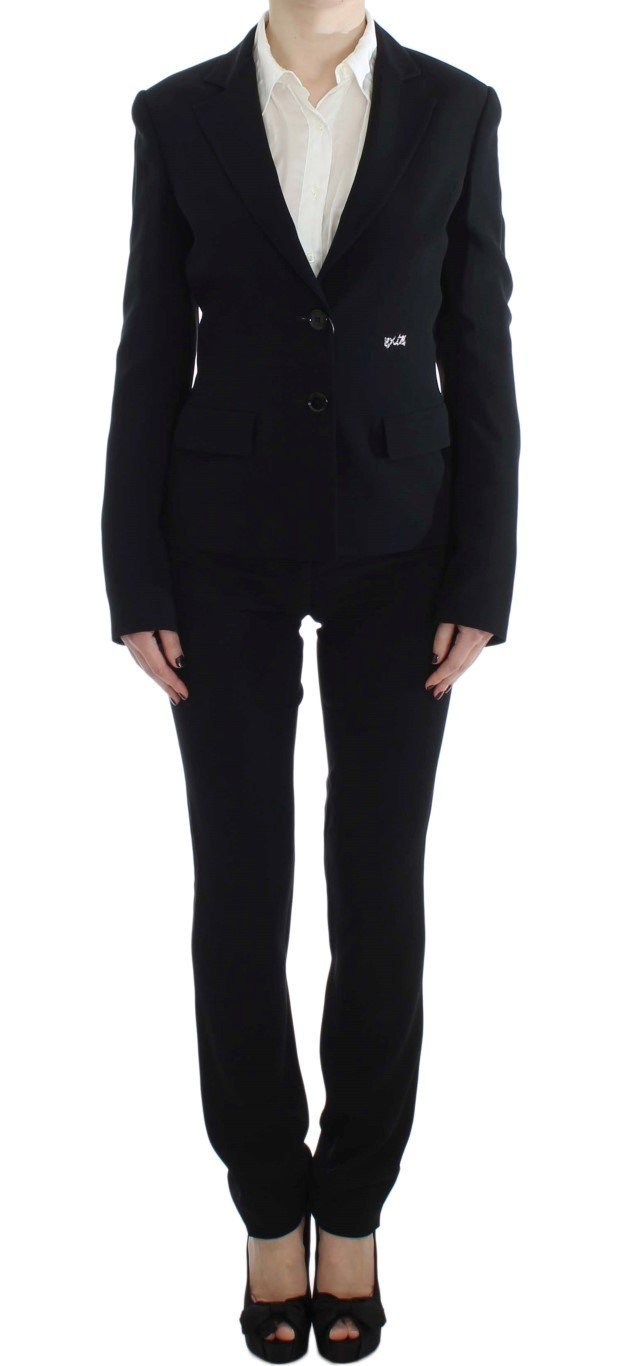 Black Two Button Suit