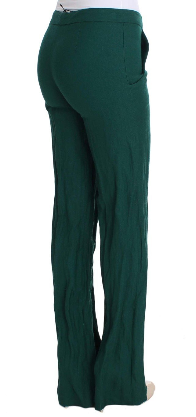 Green Wool Dress Casual Pants