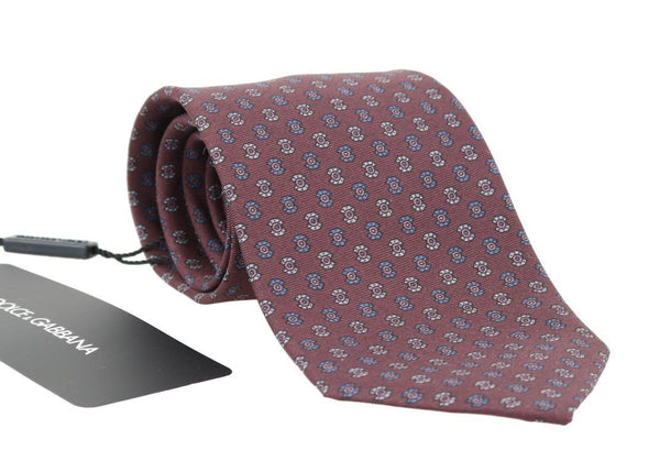 Bordeaux Silk Patterned Tie
