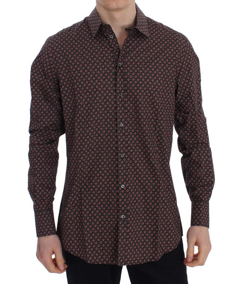 Multicolor Baroque Slim GOLD Shirt
