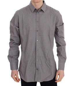Gray Fantasy Cotton Slim GOLD Shirt