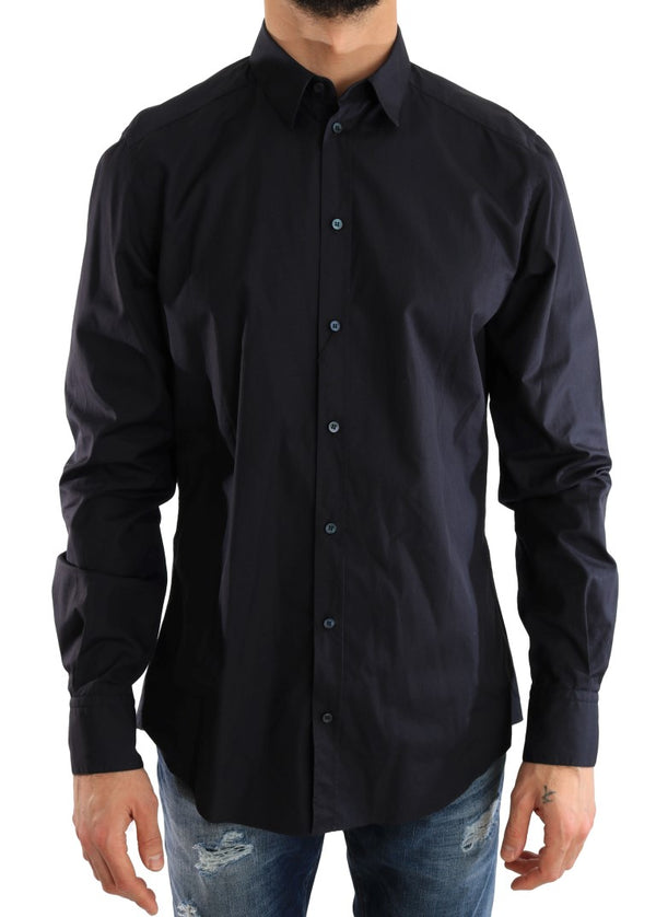 Blue Dress Formal Slim Fit Cotton Shirt