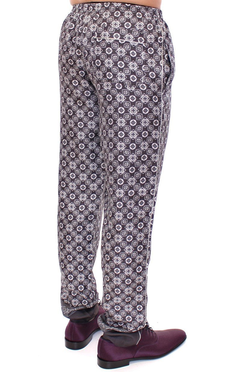 Gray SILK Pajama Lounge Pants
