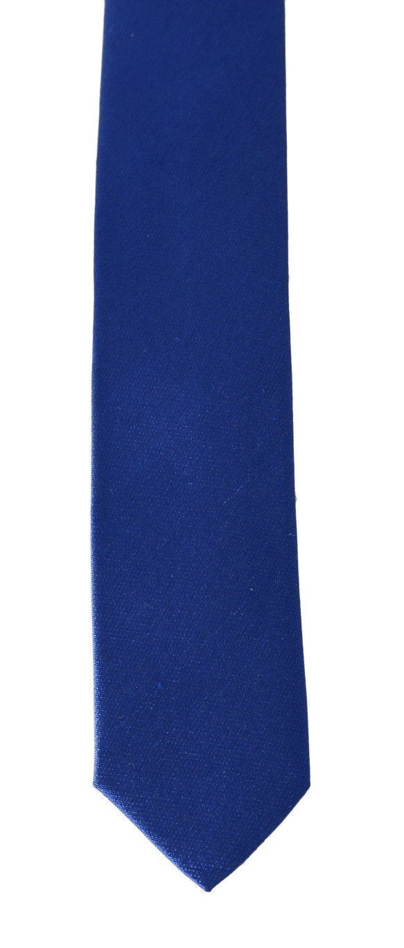 Blue Silk Solid Slim Tie
