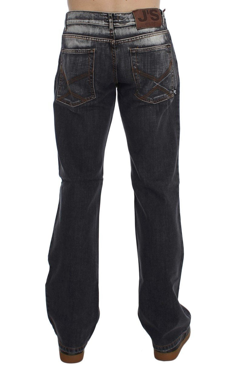 Gray Wash Cotton Regular Fit Jeans
