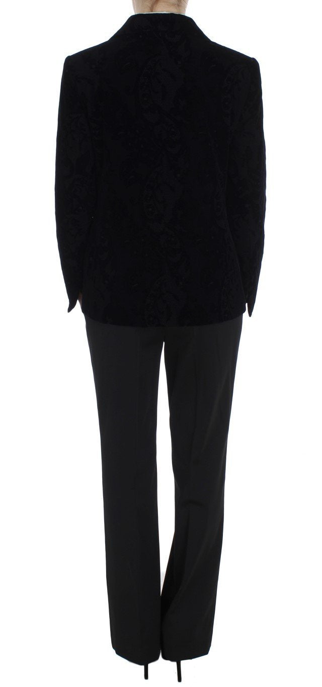 Black Lace Stretch Suit