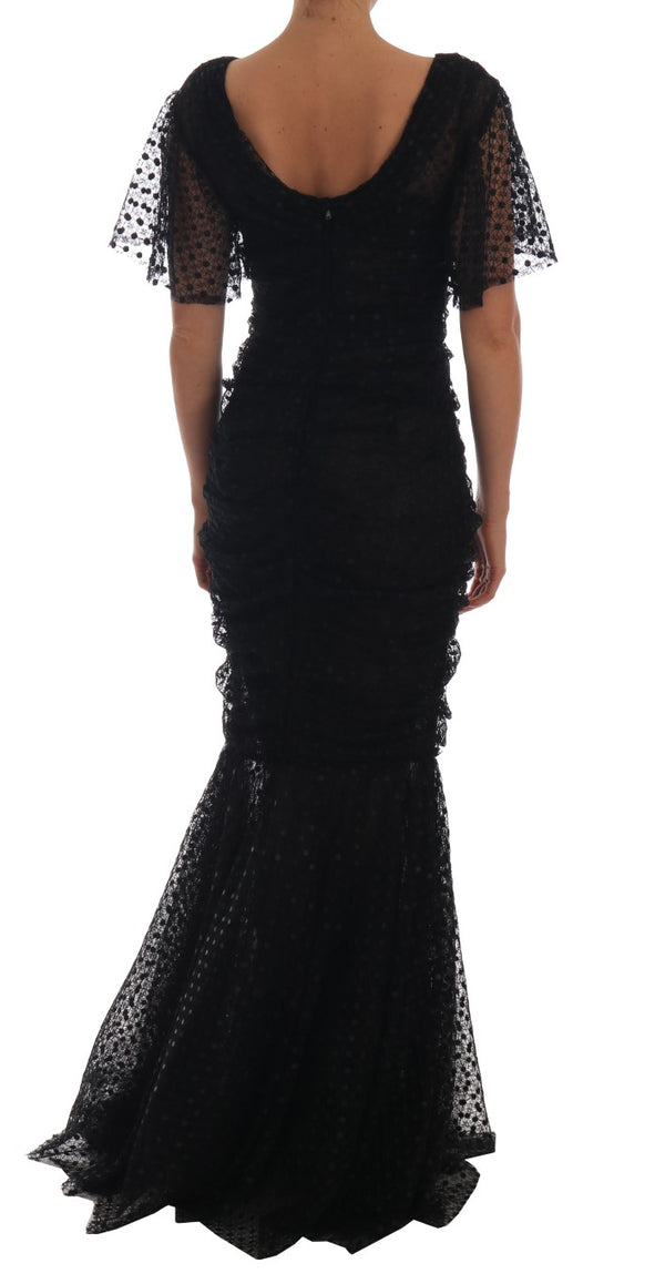 Black Sheath Flare Long Maxi Gown