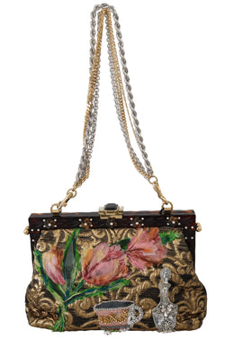 VANDA Brocade Fairy Tale Floral Crystal Purse