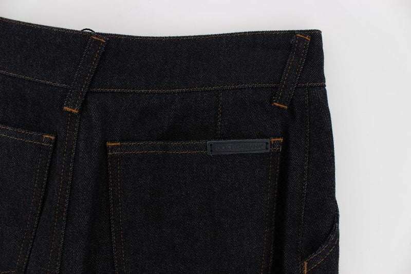 Blue Stretch Flare High Waist Jeans
