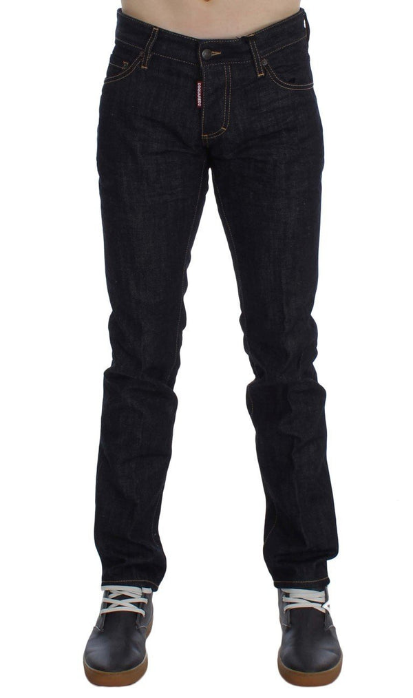 Blue Cotton Denim Slim Skinny Jeans