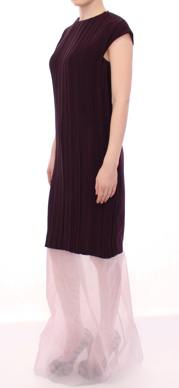 Purple Lavender Gown Maxi Silk Long Dress