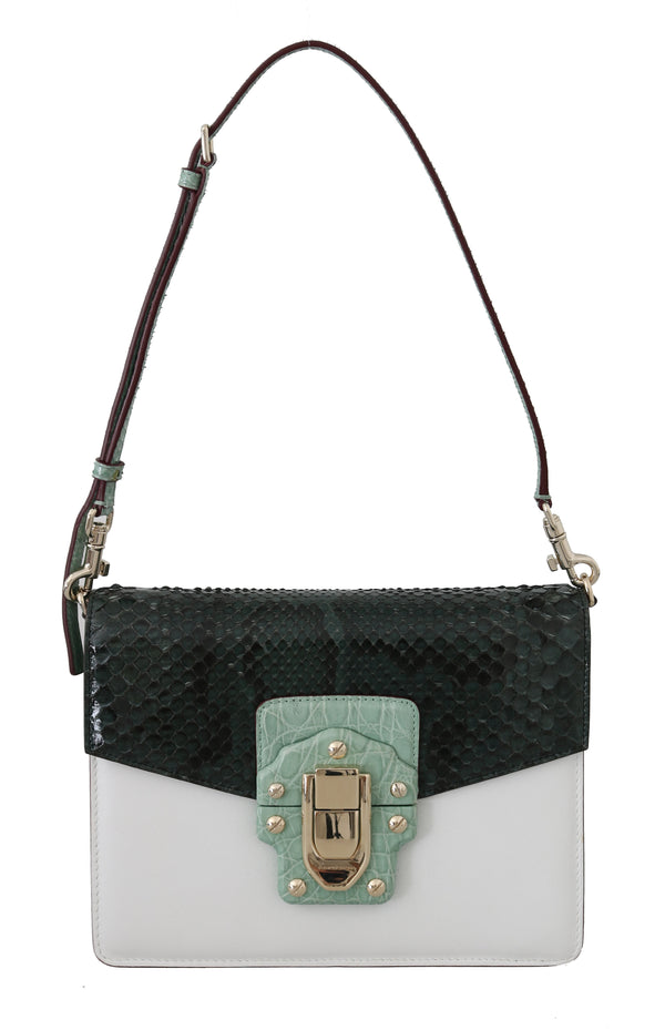 LUCIA Crocodile Snakeskin White Leather Purse