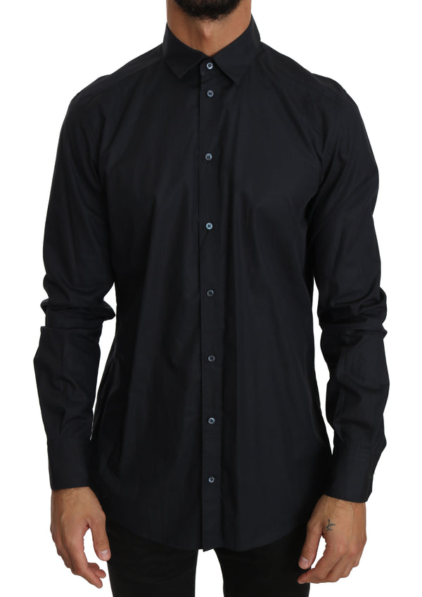 Blue 100% Cotton Formal Dress Shirt