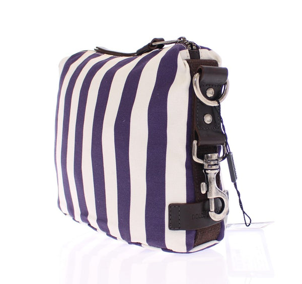 Purple striped canvas toiletry bag - Designer Clothes, Handbags, Shoes + from Dolce & Gabbana, Prada, Cavalli, & more