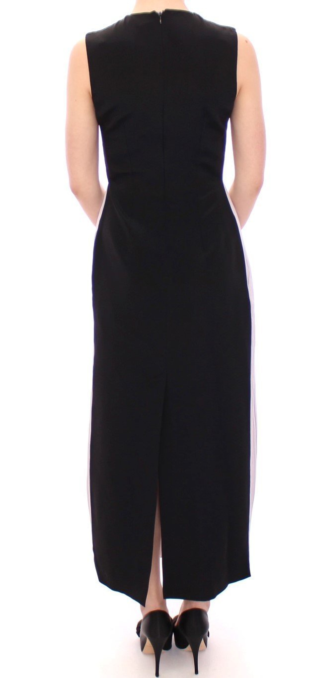 Black Lavender Gown Maxi Silk Long Dress