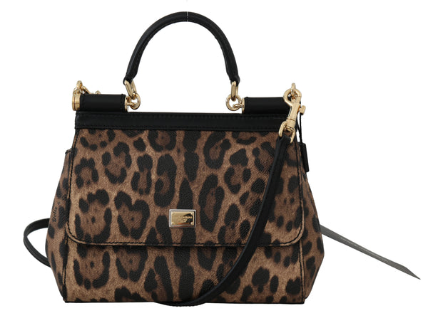 Brown MISS SICILY Leopard Print Hand Shoulder Purse