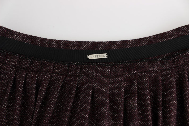 Purple Short Flannel Skirt