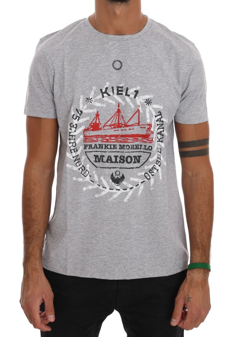 Gray Cotton Maison T-Shirt