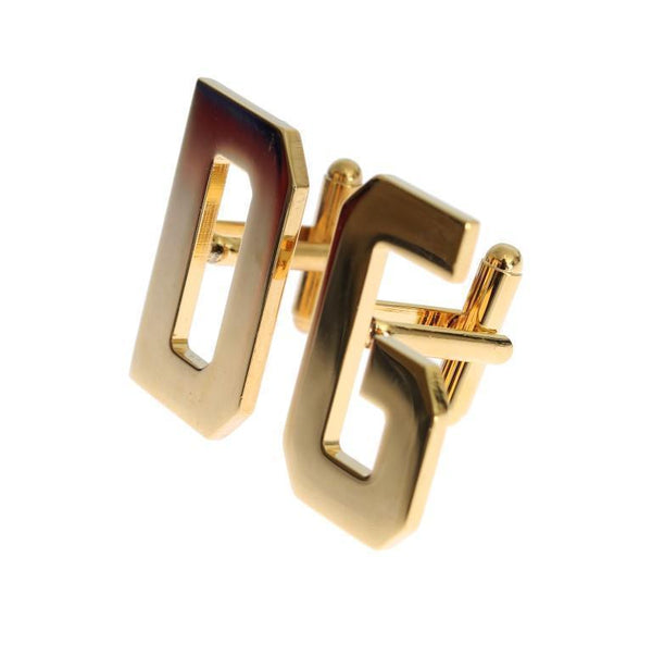 Gold Brass DG Logo Cufflinks