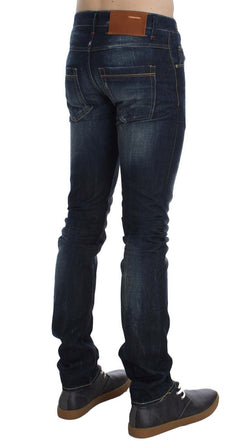 Blue Wash Cotton Slim Fit Jeans