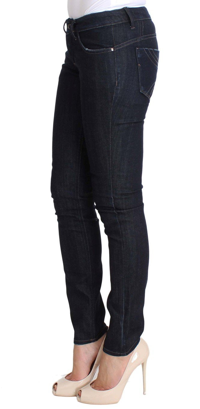Blue Cotton Stretch Slim Fit Jeans