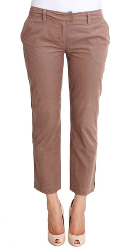 Brown Cropped Corduroys Pants