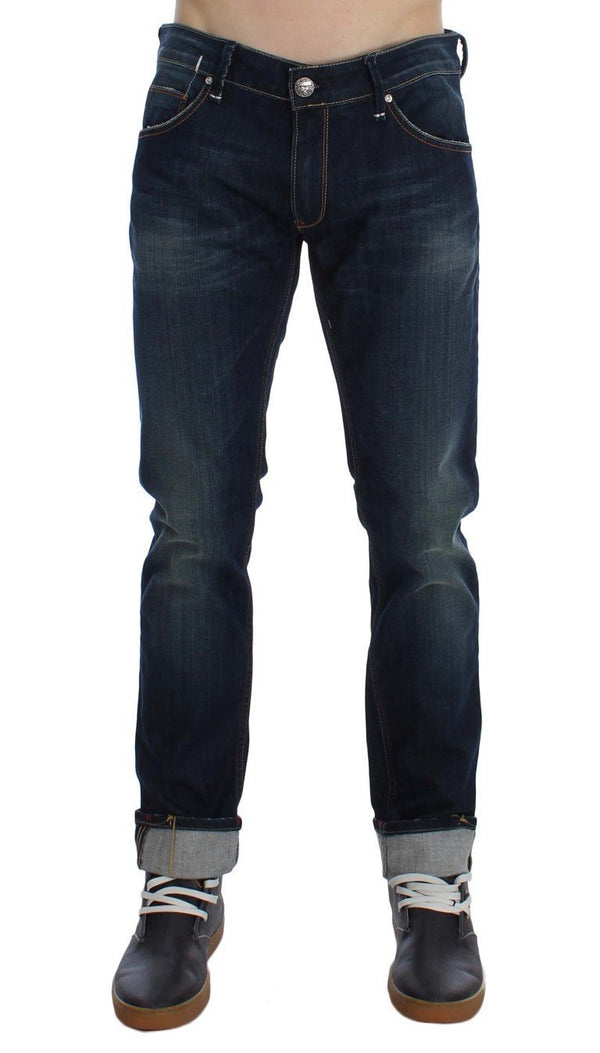 Blue Wash Cotton Stretch Slim Skinny Fit Jeans
