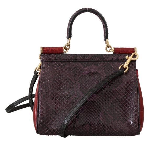 MISS SICILY Crocodile Snakeskin Alligator Shoulder Purse