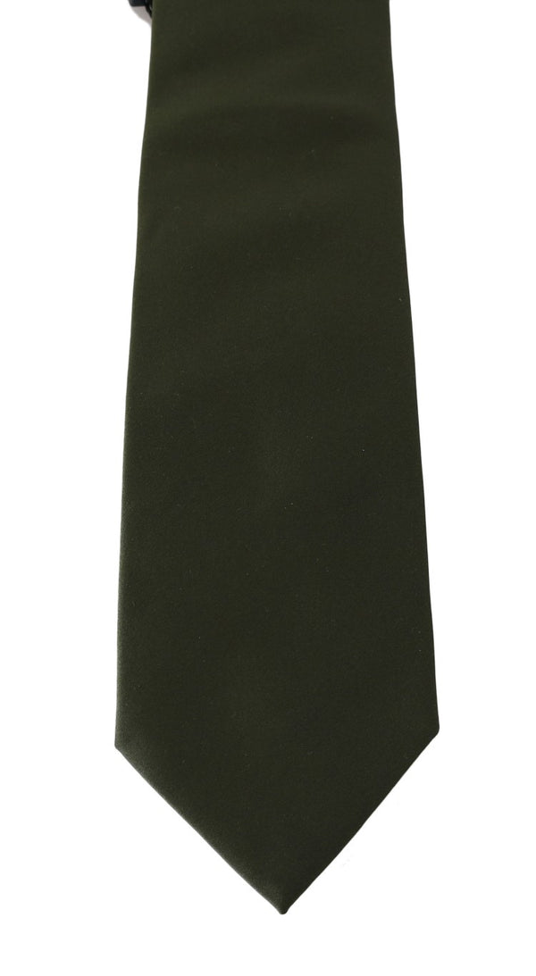 Green Solid Silk Wide Tie