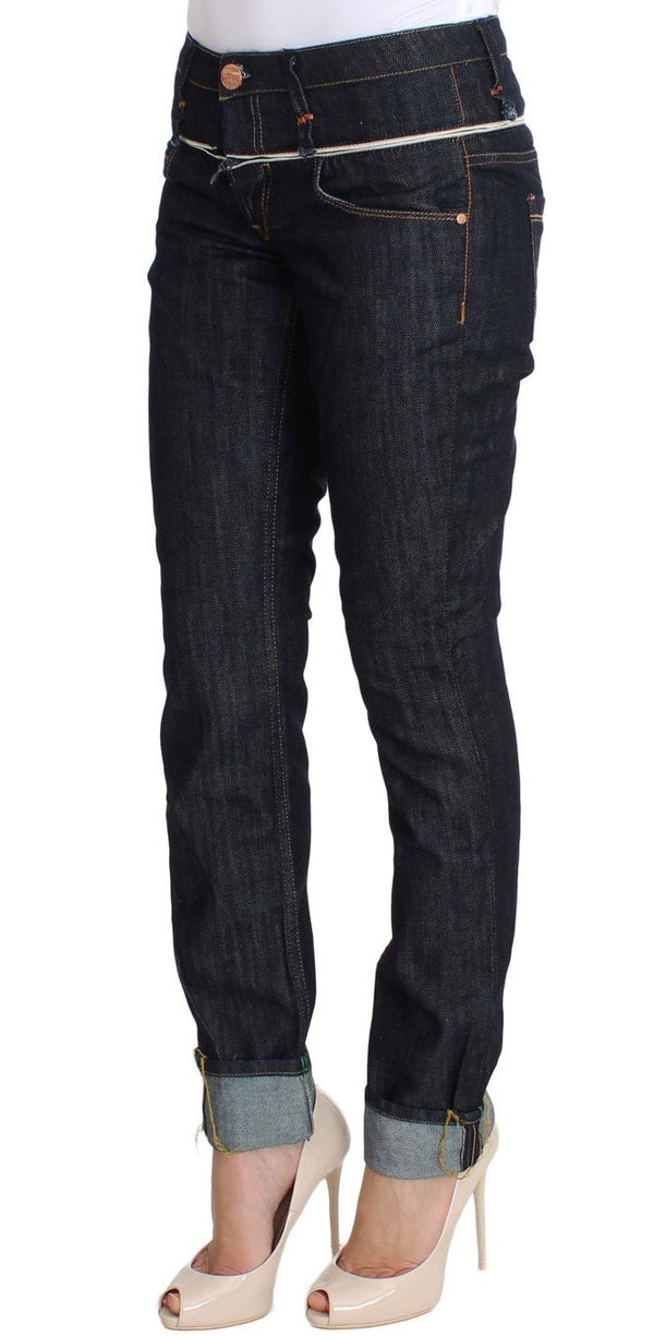 Blue Denim Cotton Bottoms Straight Fit Jeans